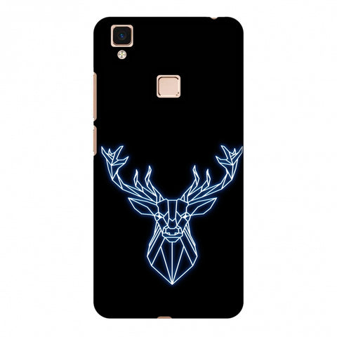 Reindeer - Teal Slim Hard Shell Case For Vivo V3 Max
