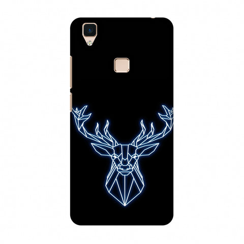 Reindeer - Teal Slim Hard Shell Case For Vivo V3