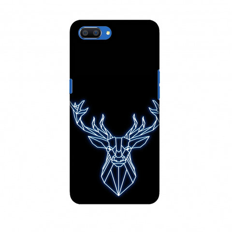 Reindeer - Teal Slim Hard Shell Case For Oppo Realme C1