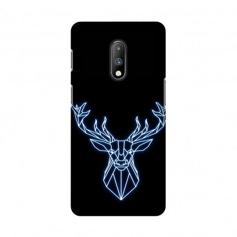 Reindeer - Teal Slim Hard Shell Case For OnePlus 7