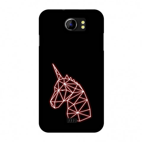 Unicorn - Red Slim Hard Shell Case For Micromax Canvas 2 A110