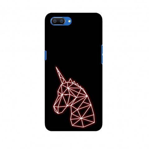 Unicorn - Red Slim Hard Shell Case For Oppo Realme C1