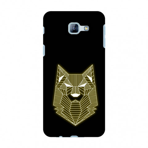 Wolf - Yellow Slim Hard Shell Case For Samsung Galaxy A8 2016