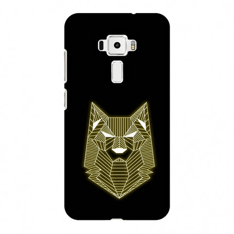 Wolf - Yellow Slim Hard Shell Case For Asus Zenfone 3 ZE520KL