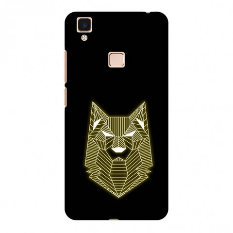 Wolf - Yellow Slim Hard Shell Case For Vivo V3 Max