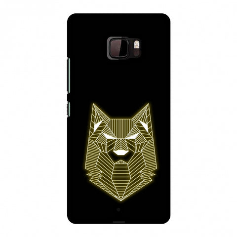 Wolf - Yellow Slim Hard Shell Case For HTC U Ultra