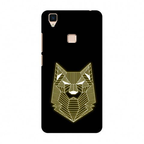 Wolf - Yellow Slim Hard Shell Case For Vivo V3