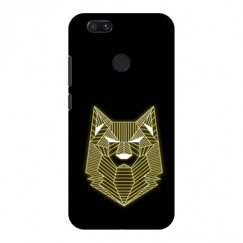 Wolf - Yellow Slim Hard Shell Case For Xiaomi MI A1-5X