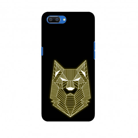 Wolf - Yellow Slim Hard Shell Case For Oppo Realme C1