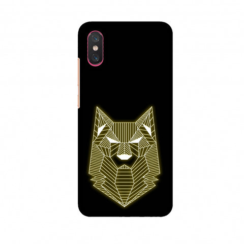 Wolf - Yellow Slim Hard Shell Case For Xiaomi Mi 8 Pro