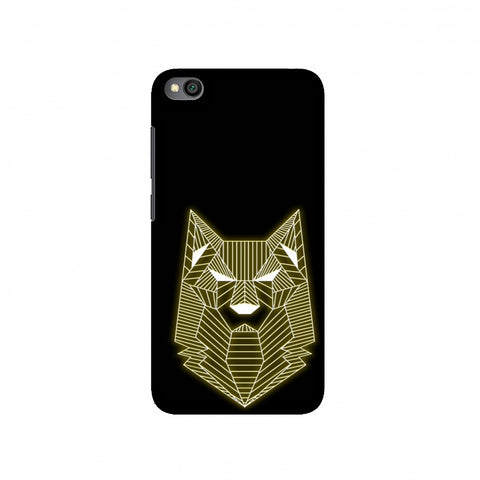 Wolf - Yellow Slim Hard Shell Case For Redmi Go