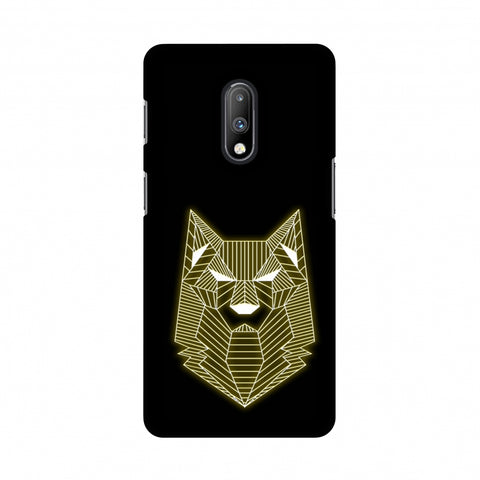 Wolf - Yellow Slim Hard Shell Case For OnePlus 7