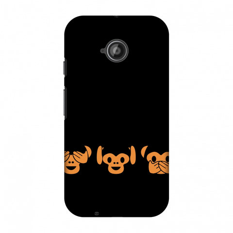 The Three Wise Monkeys - Black Slim Hard Shell Case For Motorola Moto E 2nd Gen