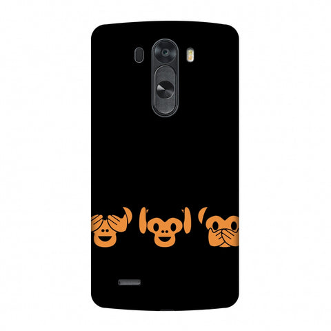 The Three Wise Monkeys - Black Slim Hard Shell Case For LG G4