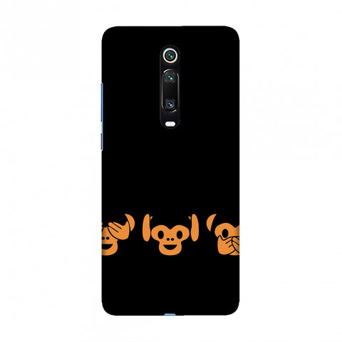 The Three Wise Monkeys - Black Slim Hard Shell Case For Redmi K20/K20 Pro