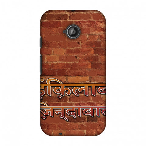 Inquilab Zindabad Slim Hard Shell Case For Motorola Moto E 2nd Gen