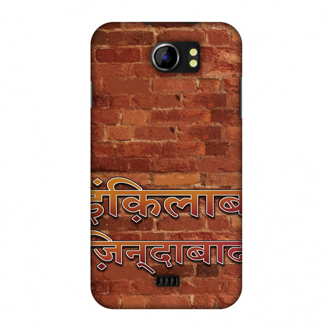 Inquilab Zindabad Slim Hard Shell Case For Micromax Canvas 2 A110