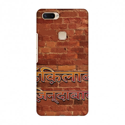 Inquilab Zindabad Slim Hard Shell Case For Vivo X20 Plus