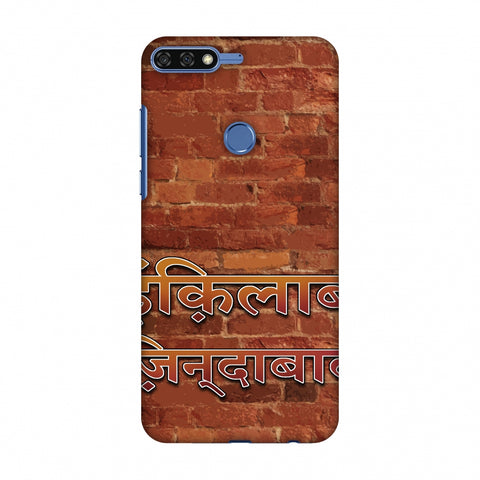 Inquilab Zindabad Slim Hard Shell Case For Huawei Honor 7C