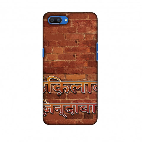 Inquilab Zindabad Slim Hard Shell Case For Oppo Realme C1
