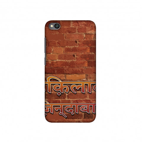 Inquilab Zindabad Slim Hard Shell Case For Redmi Go