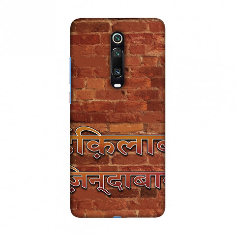 Inquilab Zindabad Slim Hard Shell Case For Redmi K20/K20 Pro