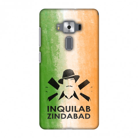 Inquilab Zindabad - Bhagat Singh - Flag Slim Hard Shell Case For Asus Zenfone 3 Deluxe ZS570KL