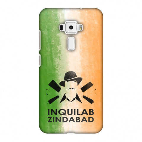 Inquilab Zindabad - Bhagat Singh - Flag Slim Hard Shell Case For Asus Zenfone 3 ZE520KL