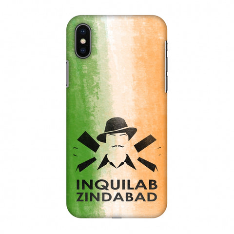 Inquilab Zindabad - Bhagat Singh - Flag Slim Hard Shell Case For Apple iPhone X