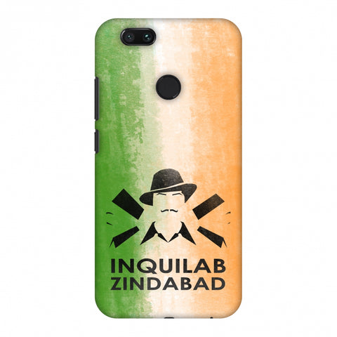 Inquilab Zindabad - Bhagat Singh - Flag Slim Hard Shell Case For Xiaomi MI A1-5X