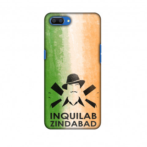 Inquilab Zindabad - Bhagat Singh - Flag Slim Hard Shell Case For Oppo Realme C1