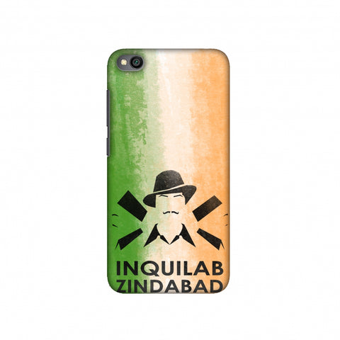 Inquilab Zindabad - Bhagat Singh - Flag Slim Hard Shell Case For Redmi Go