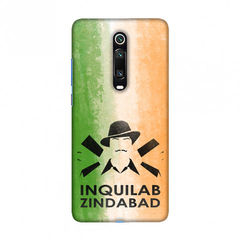 Inquilab Zindabad - Bhagat Singh - Flag Slim Hard Shell Case For Redmi K20/K20 Pro