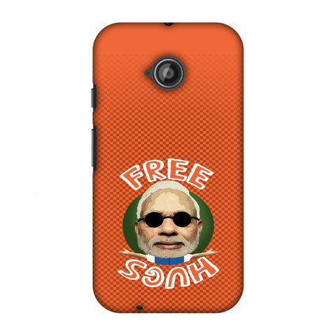 Free Hugs - Burnt orange Slim Hard Shell Case For Motorola Moto E 2nd Gen