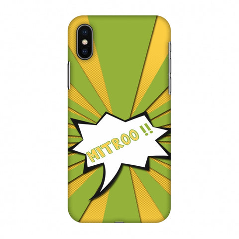 Mitroo - Grass green Slim Hard Shell Case For Apple iPhone X