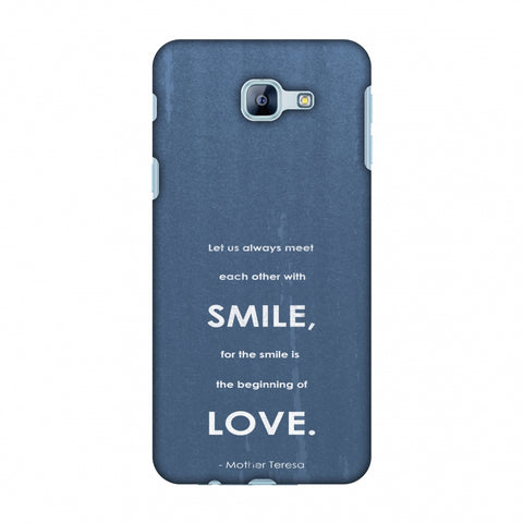 Mother Teresa - Quote Blue Slim Hard Shell Case For Samsung Galaxy A8 2016