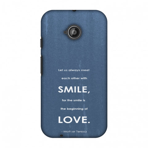 Mother Teresa - Quote Blue Slim Hard Shell Case For Motorola Moto E 2nd Gen
