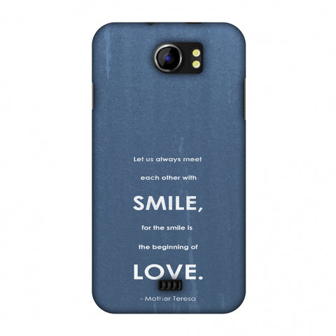 Mother Teresa - Quote Blue Slim Hard Shell Case For Micromax Canvas 2 A110