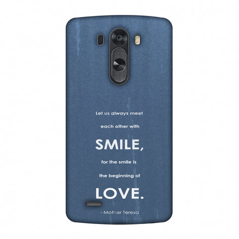 Mother Teresa - Quote Blue Slim Hard Shell Case For LG G4