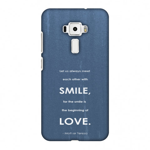 Mother Teresa - Quote Blue Slim Hard Shell Case For Asus Zenfone 3 ZE520KL