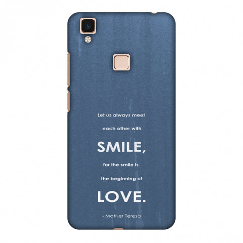 Mother Teresa - Quote Blue Slim Hard Shell Case For Vivo V3 Max