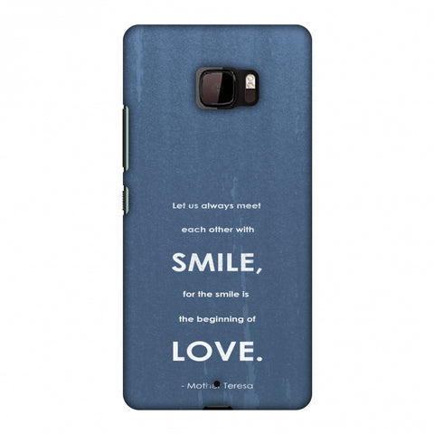 Mother Teresa - Quote Blue Slim Hard Shell Case For HTC U Ultra