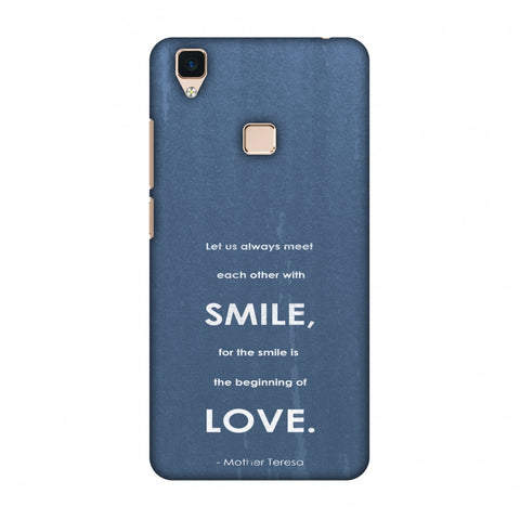 Mother Teresa - Quote Blue Slim Hard Shell Case For Vivo V3