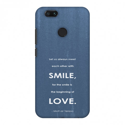 Mother Teresa - Quote Blue Slim Hard Shell Case For Xiaomi MI A1-5X