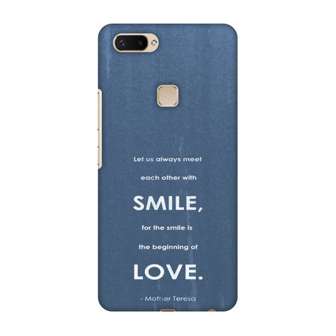 Mother Teresa - Quote Blue Slim Hard Shell Case For Vivo X20 Plus