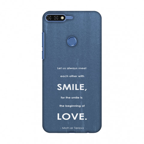 Mother Teresa - Quote Blue Slim Hard Shell Case For Huawei Honor 7C