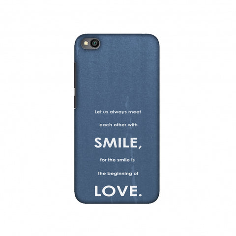 Mother Teresa - Quote Blue Slim Hard Shell Case For Redmi Go