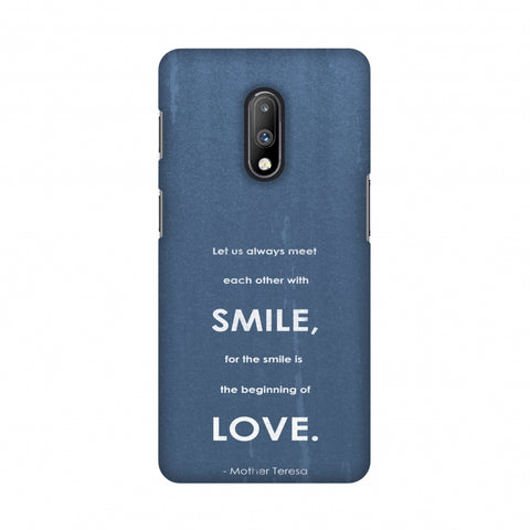 Mother Teresa - Quote Blue Slim Hard Shell Case For OnePlus 7