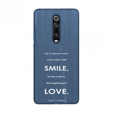 Mother Teresa - Quote Blue Slim Hard Shell Case For Redmi K20/K20 Pro