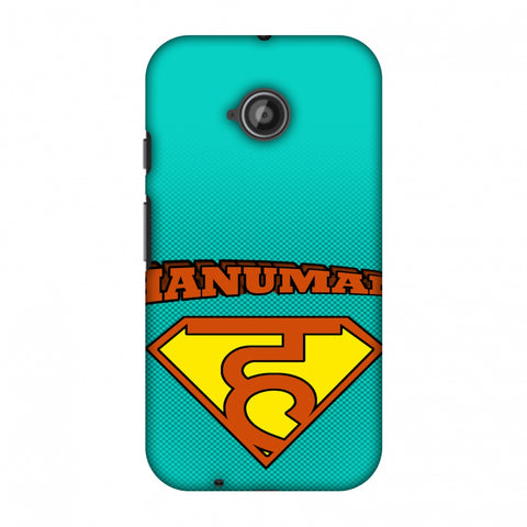Hanu - Man - Teal Slim Hard Shell Case For Motorola Moto E 2nd Gen